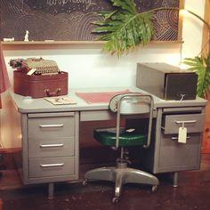 Elegant Industrial Tanker Desk From Steelcase. (at Moon And Arrow Home Of Territory  Hard Goods · Tanker DeskVintage OfficeIdeal HouseIndustrial FurnitureRepurposed  ...