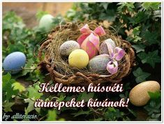 Egg Basket, Easter Baskets, Cute Easter Bunny, Happy Easter, Ostern Wallpaper, Easter Quotes, Easter Wishes, Egg Decorating, Cover Photos
