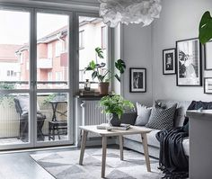 Scandinavian living room and home decor