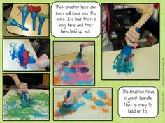 PreKandKSharing: Adapted Art (adapting tools to allow children with special needs to create open-ended art, culminating in glorious bulletin board)