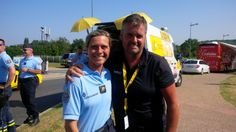 Tour de France 2013, with the only Female motorbike Police.