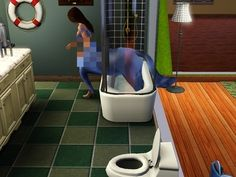 Whenever your Sim tried to take a shower but became a wondrous purple centaur instead. | The 29 Weirdest Things Ever To Happen When Playing The Sims