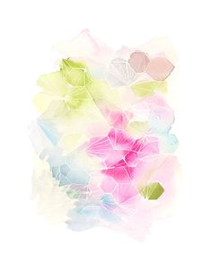 Handmade Watercolor Archival Art Print Color by YaoChengDesign, Beautiful!