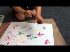 Fireworks Straw Painting - 4th of July Craft