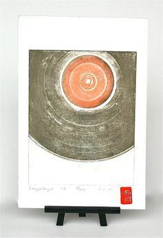 Long-playing record / Album / LP Original by freshandsilly Printing Press, Chicago Cubs Logo, Paper Size, Stamp, Album, The Originals, Prints, Handmade, Hand Made