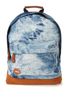 love this tie dye denim backpack for school season