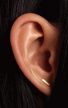 Gold wisp earrings