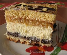 Ciasto Pyszne :) Polish Desserts, Polish Recipes, Cookie Desserts, Baking Recipes, Cake Recipes, Hungarian Cake, Cheesecake, Traditional Cakes, Food Cakes