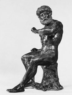 Seated Hercules Date: probably first quarter 16th century Culture: German, Nuremberg Medium: Bronze Dimensions: H. 9 in. (22.9 cm.) Accession Number: 64.101.1546   MET