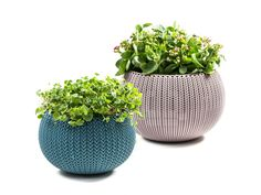 the range of indoor and outdoor planters not only have the appearance of knit, but they also express the tactility of something softer and deeply textured proving the versatility and possibilities of plastic.