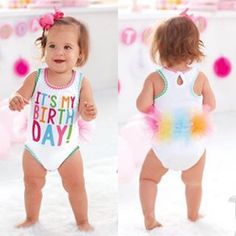 Your little girl NEEDS this outfit to celebrate her first birthday!