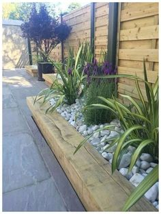 Get our best landscaping ideas for your backyard and front yard, including landscaping design, garden ideas, flowers, and garden design. Landscaping Ideas for the Front Yard - Better Homes and Gardens Backyard Garden Design, Diy Garden, Garden Cottage, Backyard Fences, Wooden Garden, Herb Garden, Summer Garden, Patio Fence, Patio Wall