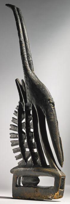 Bamana Male Antelope Headdress (Chi wara), Mali Estimate  8,000 — 12,000  USD  LOT SOLD. 11,250 USD