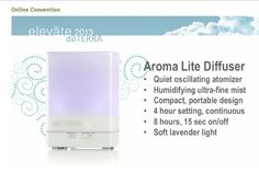doTERRA Aroma Lite Diffuser - a new diffuser option from doTERRA.  It's like a mini humidifier and lasts up to 8 hours before refill.