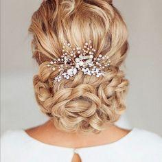 Venusvi Vintage Wedding Hair Combs with Bead and Rhinestones - Bridal Headpiece | eBay