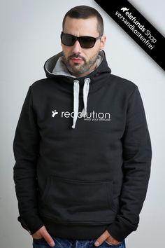 #Recolution - #Attitude - Männer Hoodie - schwarz - 79,90€ - 100% organic cotton and fairtrade - Versand kostenlos