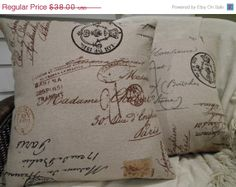 AFTER CHRISTMAS SALE Pair of Designer Pillow Covers  by decorate23, $32.30 I love these pillows!!!
