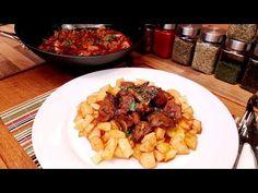Pandúr pecsenye / Szoky konyhája / - YouTube Grains, Rice, Beef, Chicken, Ethnic Recipes, Youtube, Food, Red Peppers, Food Food