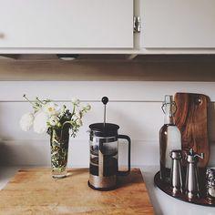 . cup, white flowers, apartment kitchen, coffee kitchen, kitchen styling