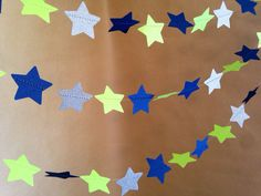 Navy Blue, Lime Green and Shimmery Silver Twinkle, Twinkle Garland Christmas Party Decor, Photo Prop, Baby Shower Decor, Classroom Decor on Etsy, $11.00
