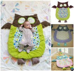 DIY Baby Owl Nap Mat Sew Pattern-Handmade Baby Shower Gift Ideas Instructions