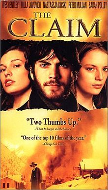 The Claim - One of my favorite films. Loosely based on The Mayor of Casterbridge, and reset in the gorgeous western mountains. Stars Peter Mullan, Nastassja Kinski, Sarah Polley and Wes Bentley.