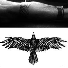 66 Best Ideas Bird Tattoo Back Of Neck Beautiful Bird Tattoo Back, Neck Tattoo For Guys, Tattoos For Guys, Bird Tattoo Men, Trendy Tattoos, New Tattoos, Body Art Tattoos, Sleeve Tattoos, Small Eagle Tattoo