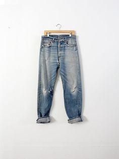Vintage Levis Jeans / 1980s Levis 501xx Denim / by 86Vintage86,
