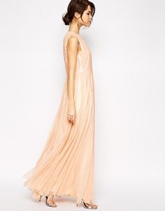 ASOS Embellished Sequin Strip Maxi Dress - I know probably not but how pretty and fun!