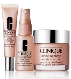 I swear by Clinique's Moisture Surge gel creme as my everyday moisturiser, and I love the face spray for extra relief during winter.