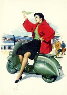 Vintage illustration, 1950s