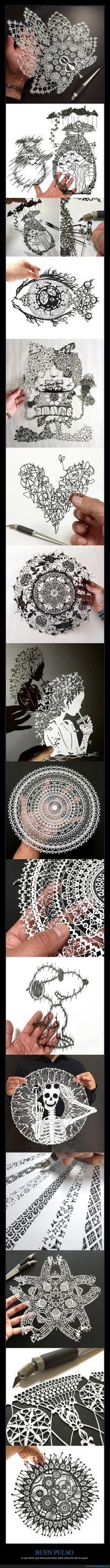 Es alucinante lo que consigue con solo un cutter y papel - El que tienes que tener para hacer estas obras de arte en papel