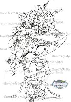SOFORT-DOWNLOAD digitale Digi Stamps große Augen großer Kopf Puppen Digi friends Fancy Pants 74 Friends von Sherri Baldy