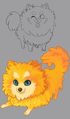 MY POMERANIAN by MonsterBell.deviantart.com on @deviantART