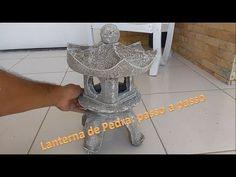 Como fazer uma lanterna de pedra, lanterna chinesa de cimento, Diy, ishidoro stone lantern. - YouTube