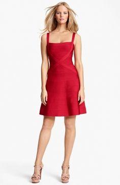 Red A-Line Bandage Dress