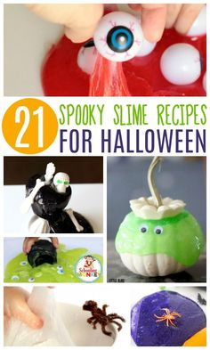 Love slime? Love Halloween? Combine your two favorites with these amazing Halloween slime recipes that will make your Halloween one you'll never forget.
