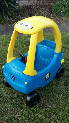 Minion Cozy Coupe and Push and Ride conversion spray paint ...