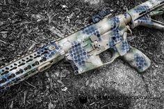 #MADDragonCamo mixed with our Net pattern. What do you think?  http://ift.tt/1yQDEDl  #cerakoteMADness #cerakote #ar15 @americandefensemfg @bravocompanyusa #MADcustomcoating #MADcustom #cerakotemafia #cerakotemagic #cerakotemilitia #pewpewlife #military #police #camo #MADdragon #guns #ar15 #igmilitia #223 #556