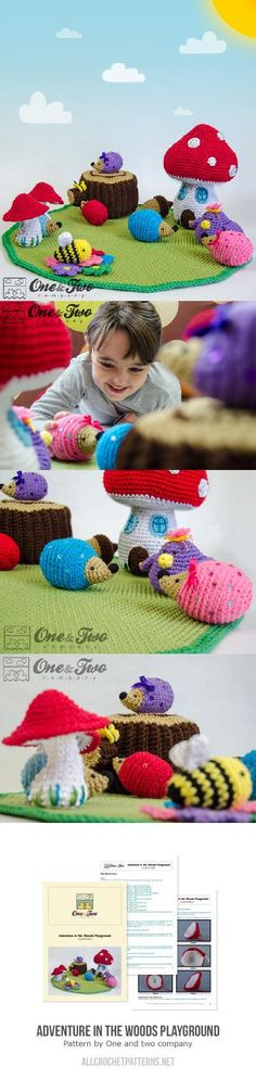 Adventure In The Woods Playground Crochet Pattern