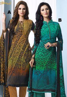 #Vaishali Print #Crepe Indian #SalwarKameez Suit 3101 AB