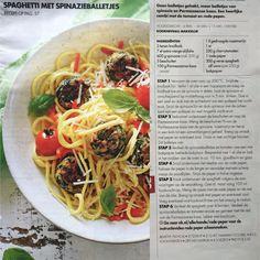 Spaghetti met spinazieballetjes