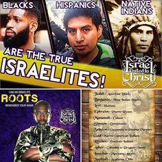 Blacks, Hispanics and Native Americans Are The Israelites! #proudtobe #betawards…