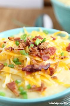 """12/29/14 Potato Soup with bacon aka """"Loaded Potato Soup"""". Need to try this one!"""