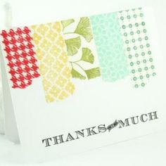 Custom Stamped Washi Tape {Thank You Card Sample}