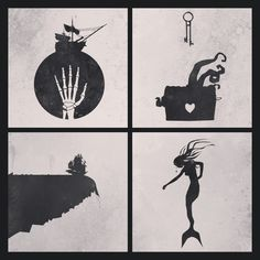 Pirates of the Caribbean minimalistic collage by H. Svanegaard.