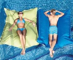 Bean Bag Pool Float I would never get out. I need these!