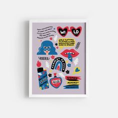 Wild Feminist - Bright – Paper Edited Online Printing Services, Bold Prints, Printable Art, Bright, Teaching, Paper, Illustration, Artwork, Work Of Art