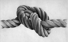 Exceptional Drawing of knotted rope
