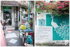 The White Peacock   Homewares in Bali   Shopfront peacock mural   Travelshopa
